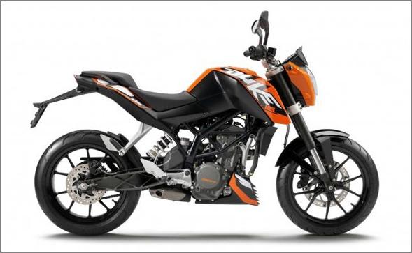Bajaj KTM DUKE 125, 200 y 350 Ktm-125-duke-orange-3