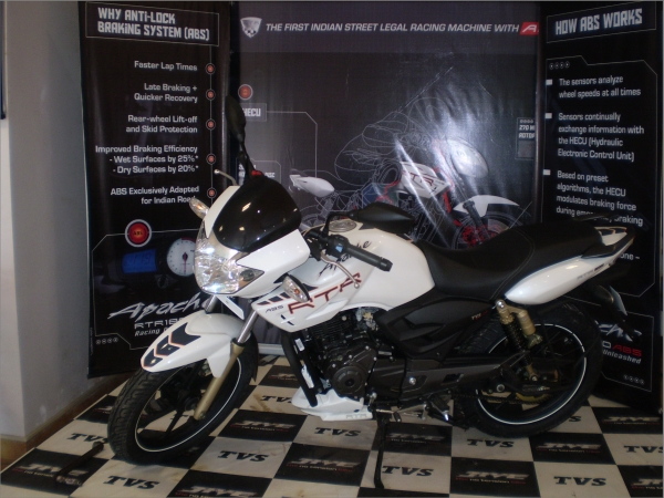 tvs apache rtr abs launched in goa