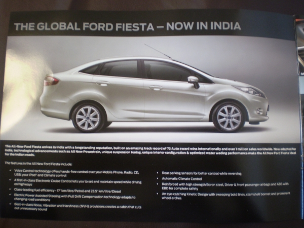 Ford Fiesta brochure and Specs, tech details  