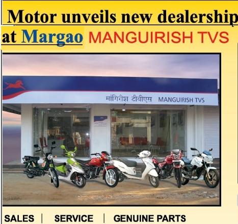 Tvs Opens New Dealership In Margao Goa On Wheels