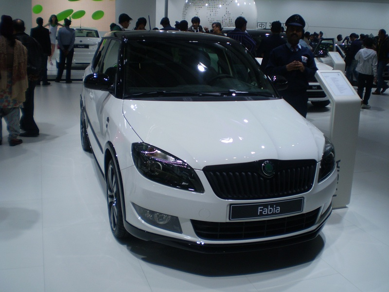 skoda fabia monte carlo at auto expo 2. Black Bedroom Furniture Sets. Home Design Ideas