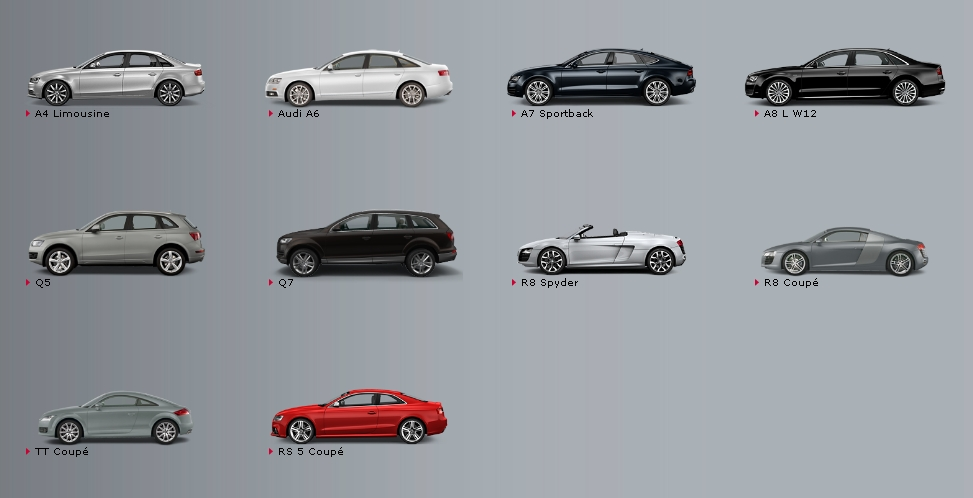 audi all model prices