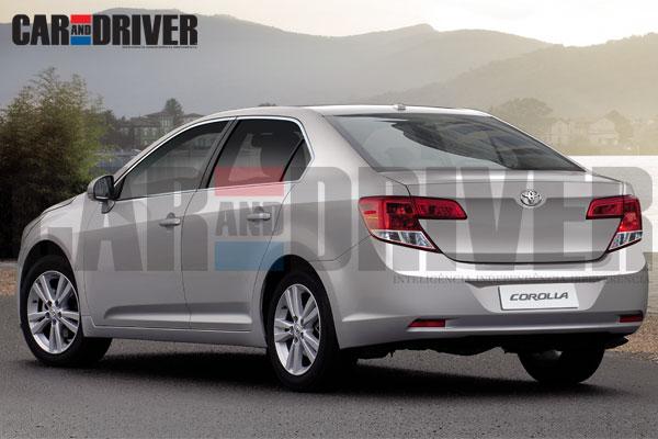 2013 Toyota Corolla rear