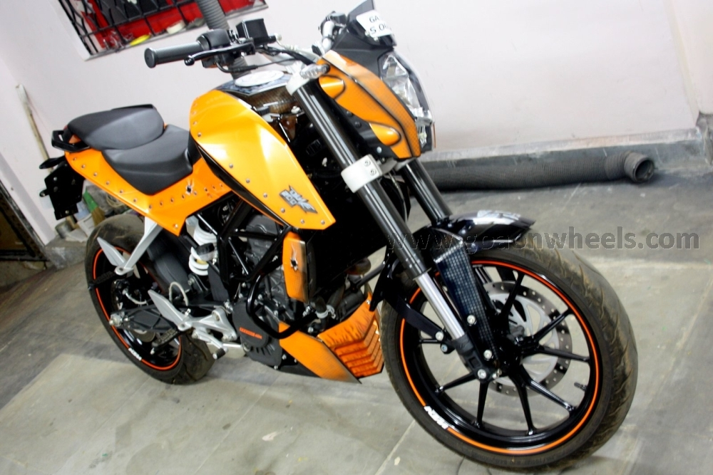 KTM Duke gets more Orangey |Goa On Wheels