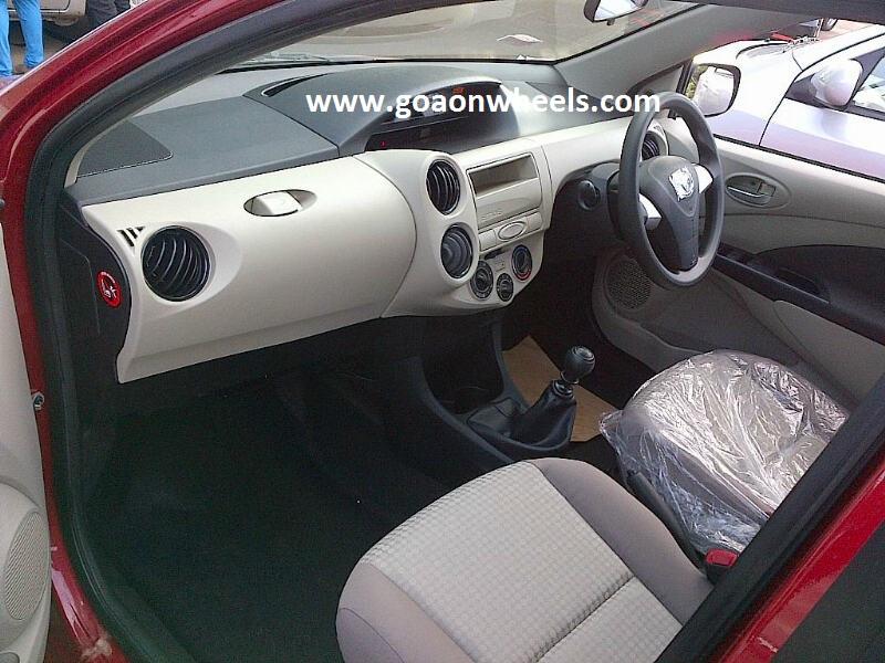 Toyota Etios Biege Interiors 1