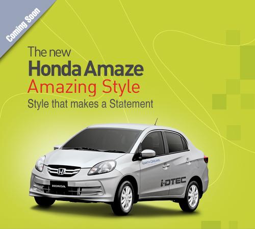 Honda Amaze sedan 18th April