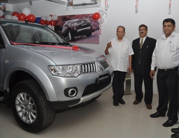 Mitsubishi show window in the heart of Kolkata