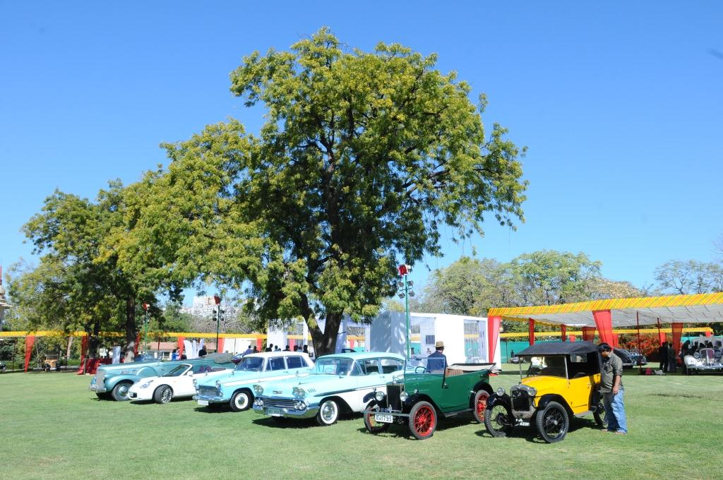 Vintage cars on display at 15th Vintage and Classic Car Rally, Jaipur 2