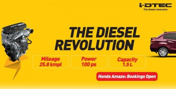 Honda Amaze boookings