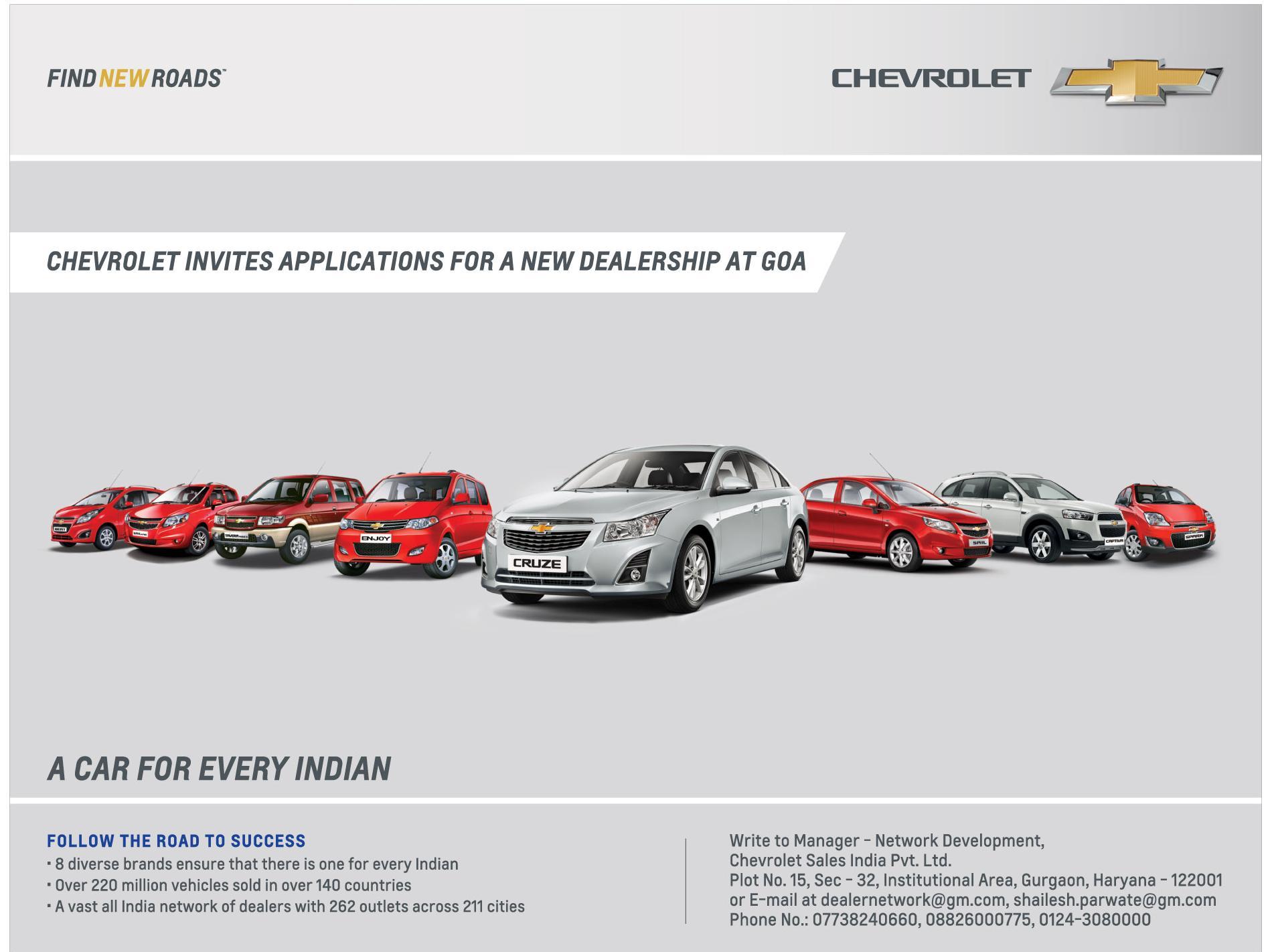 Chevrolet Dealer applications Goa