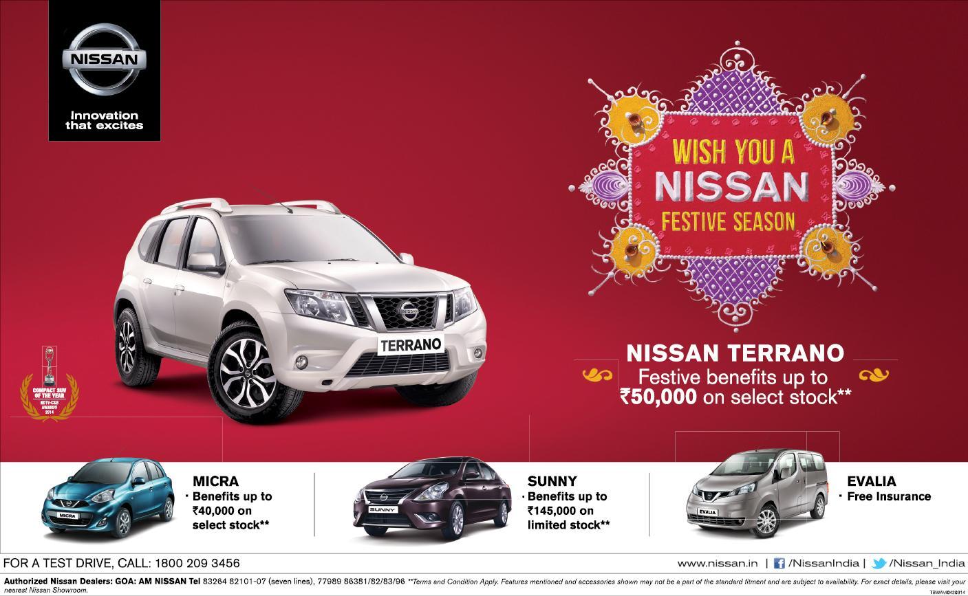 Discounts on Nissan Models Goa