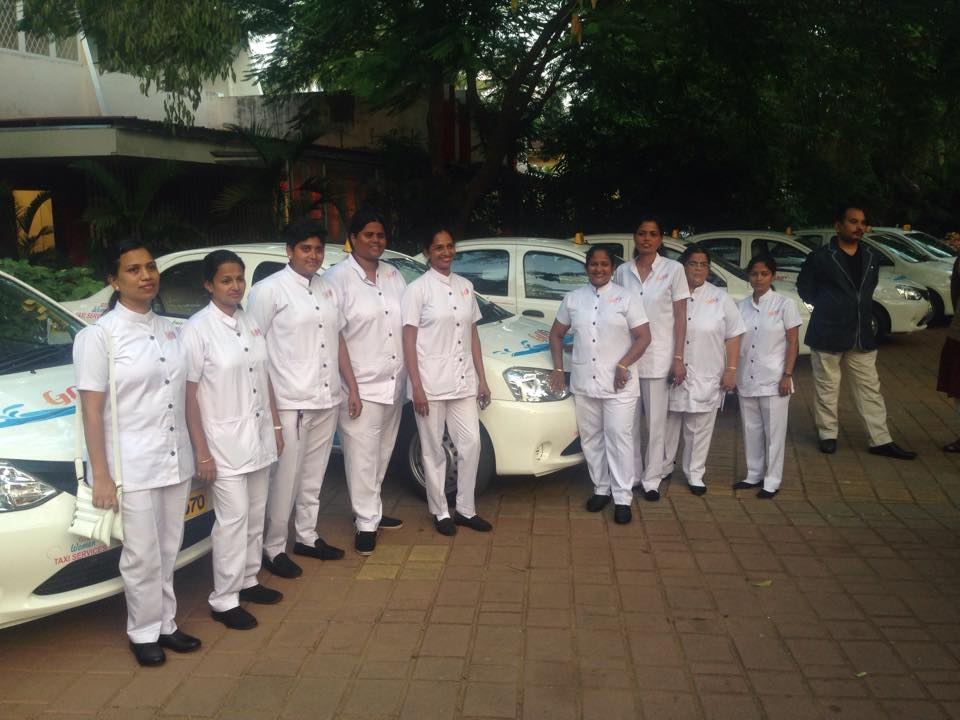 Goa Women Taxi Service drivers