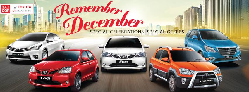Toyota Remember December offer