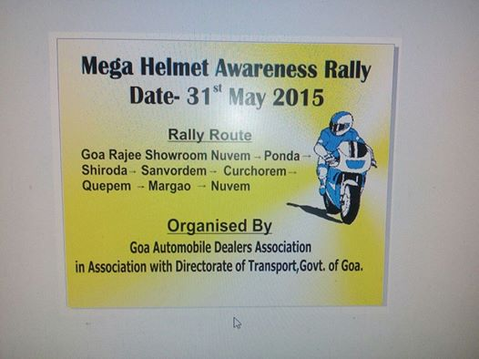 Helmet Awarness Ride Goa