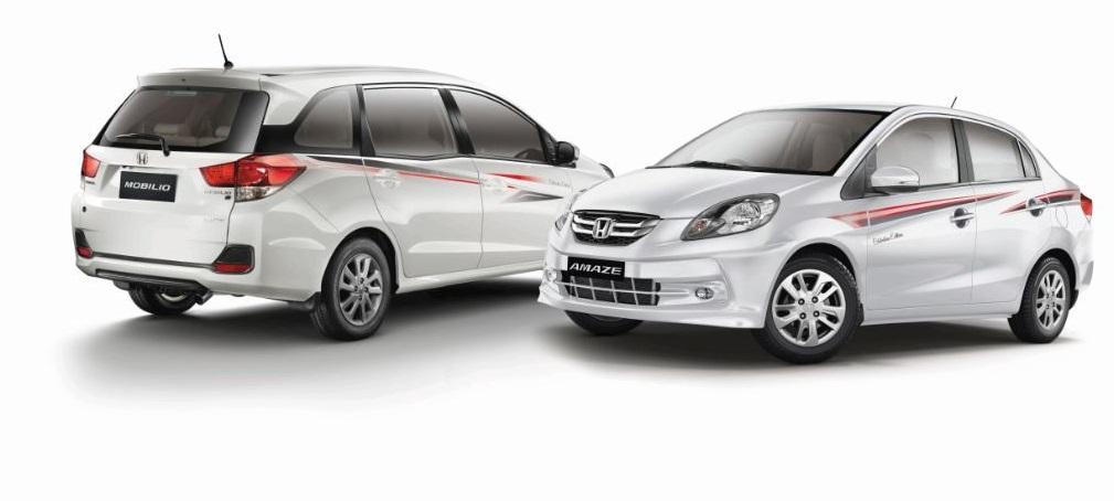 Honda launches Amze & Mobilio Celebration edition