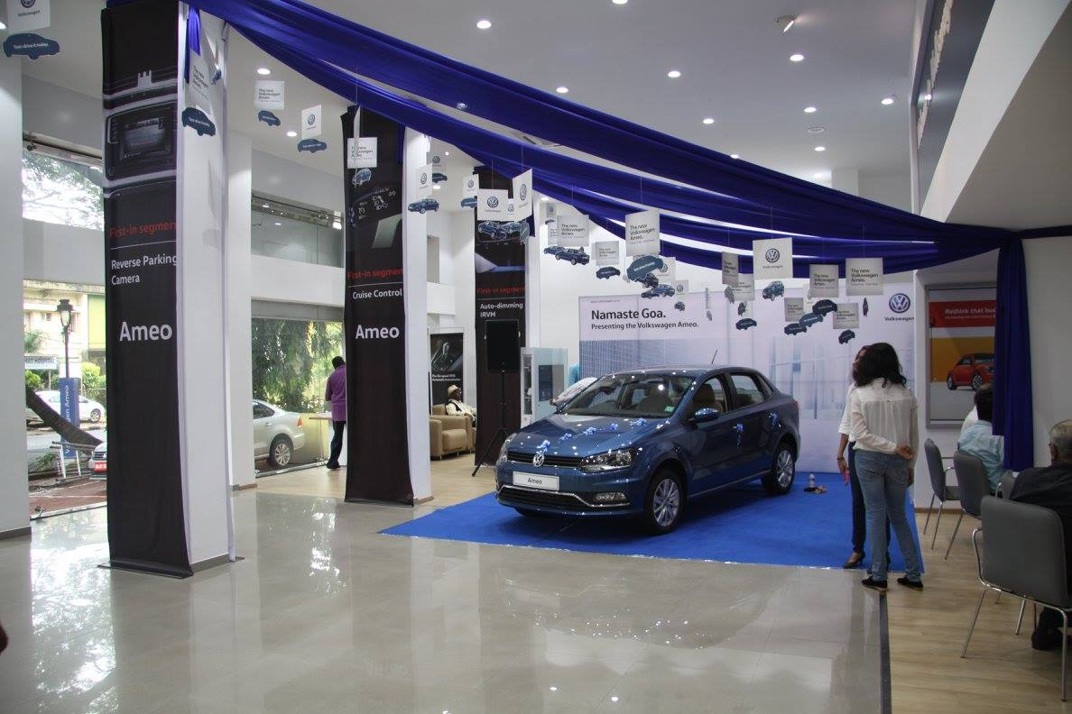 VW Ameo previewed in Goa