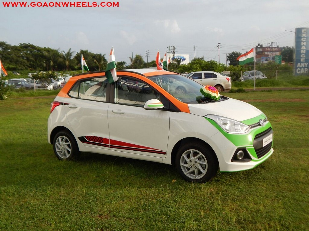 Independence Day Edition Grand I10 On Display At Goa Hyundai
