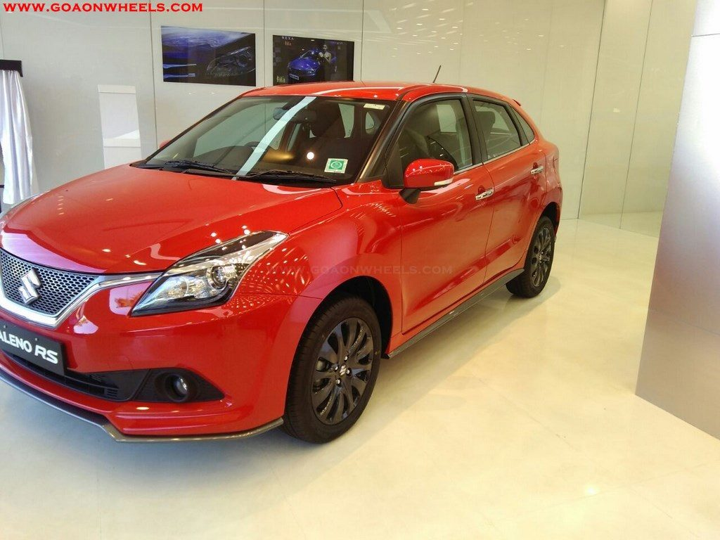 sporty maruti suzuki baleno rs launched in goa. Black Bedroom Furniture Sets. Home Design Ideas